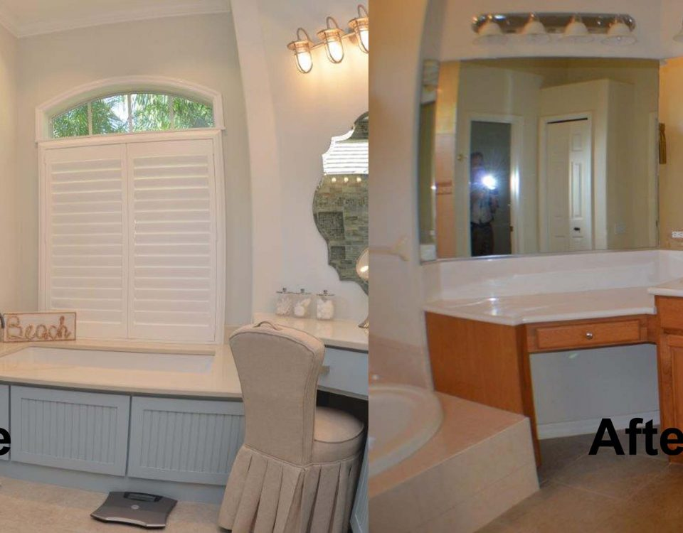 Venice Florida Master Bath Before and After Remodel Project