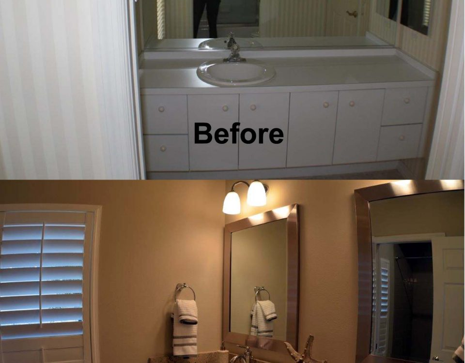 Guest Bathroom Before and After Remodeling Project