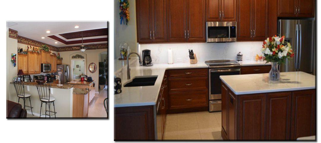 Remodeled Kitchen Dark Cabinets