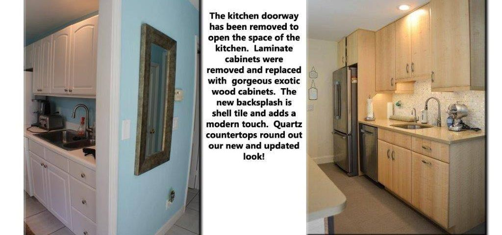Wood Cabinets in Updated Kitchen